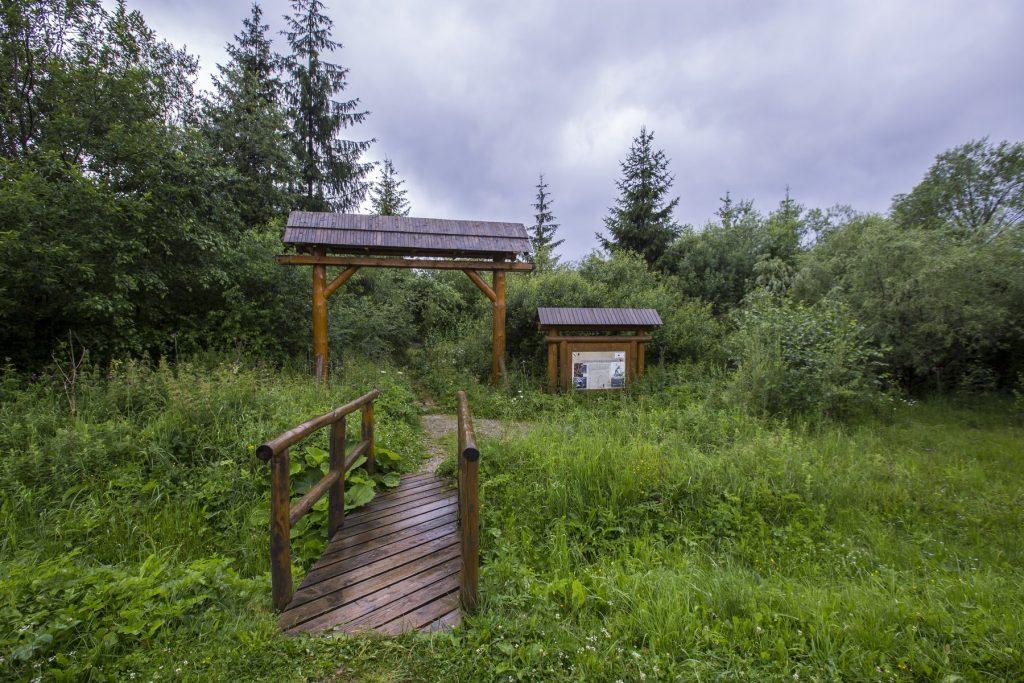 Východ chodníka Peciského rašeliniska