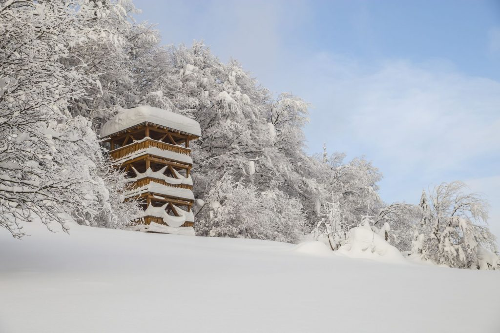 Rozhľadňa v zime Oravská Lesná, zima, orava, fotografia, Branislav Bruder